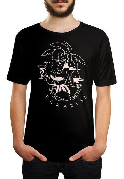 Camiseta HShop Paradise - Preto  - HShop