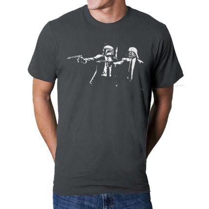 Camiseta HShop Pulp Wars Cinza  - HShop
