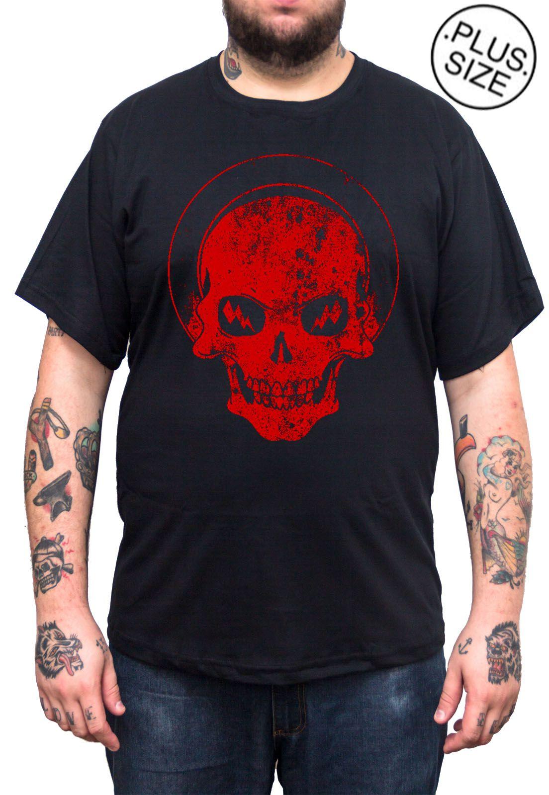 Camiseta Hshop Recovered - Preta - Plus Size - Tamanho Grande XG  - HShop