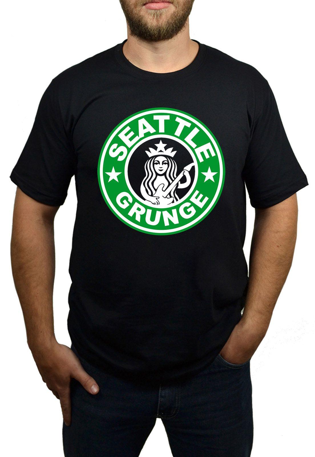 Camiseta HShop Seattle Grunge - Preto  - HShop