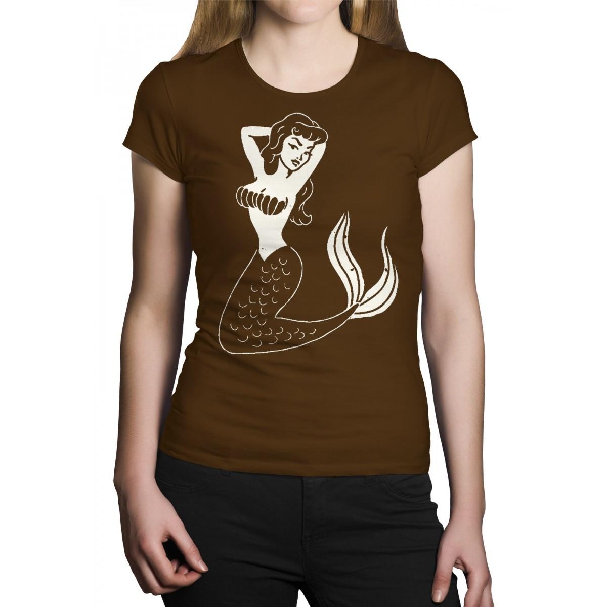 Camiseta HShop Sereia Tradicional Marrom  - HShop