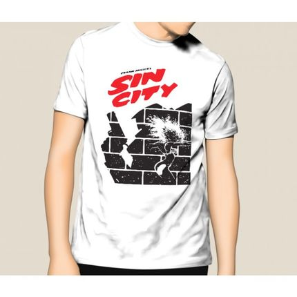 Camiseta HShop Sin City Branco  - HShop