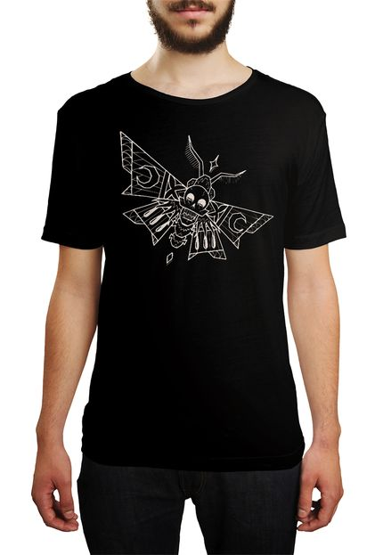 Camiseta HShop Skull Fly - Preta  - HShop