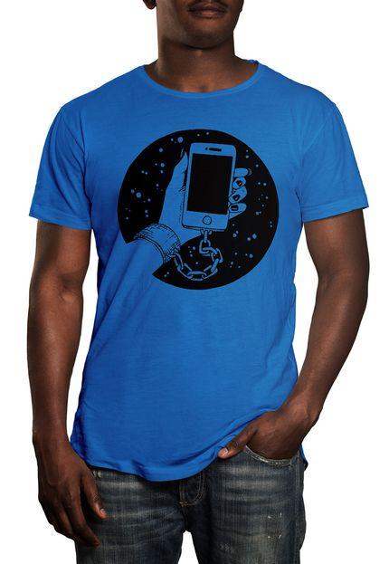 Camiseta HShop Slave - Azul Turquesa  - HShop