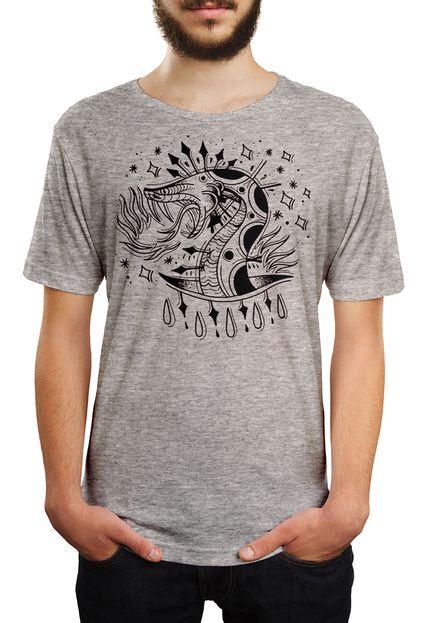 Camiseta HShop Snake! - Cinza Mescla  - HShop