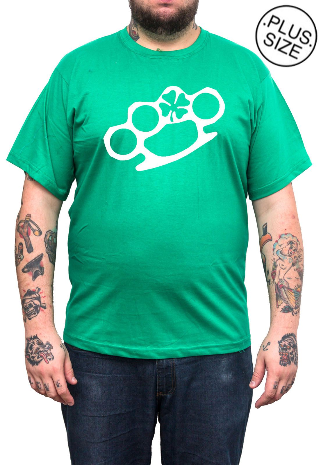 Camiseta Hshop Soco Inglês - Verde Bandeira - Plus Size - Tamanho Grande XG  - HShop