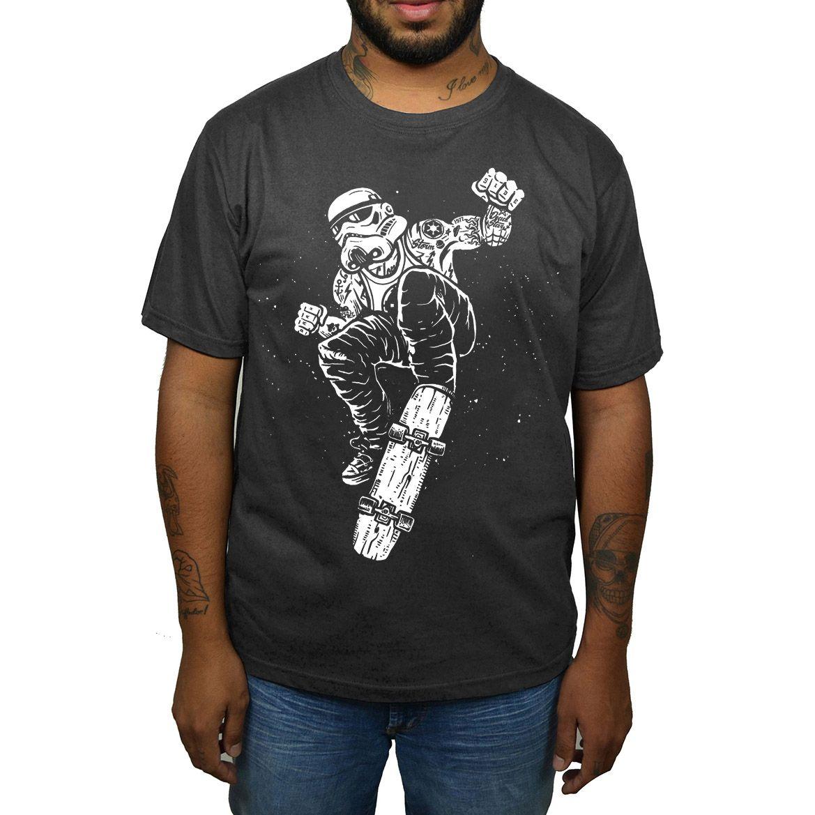 Camiseta Stormtrooper Skate - Cinza Chumbo  - HShop
