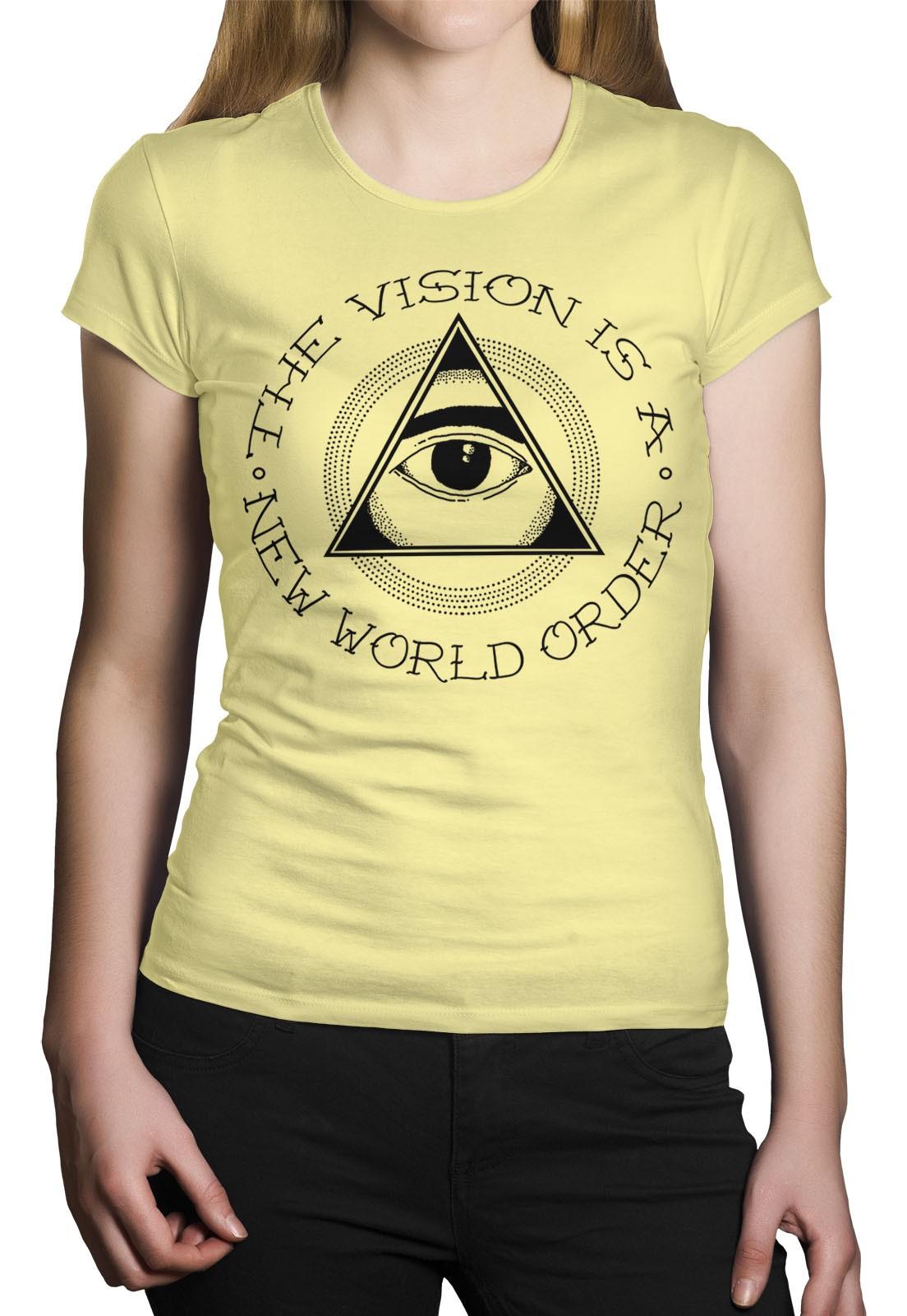 Camiseta HShop The Vision Amarelo  - HShop