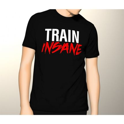Camiseta HShop Train Insane Preto  - HShop