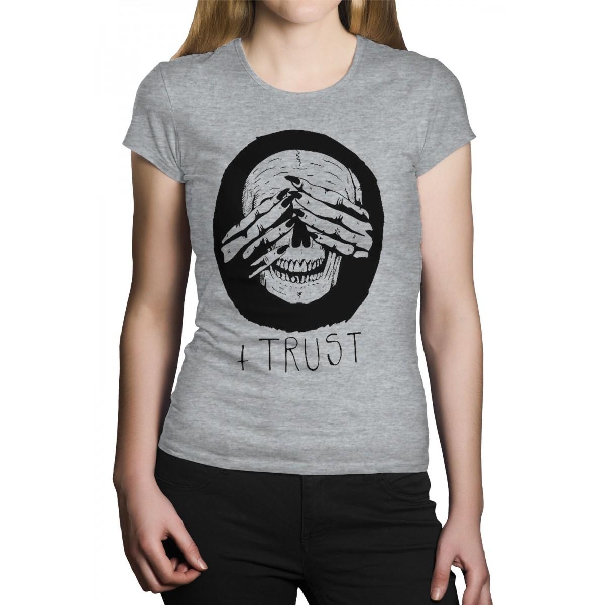 Camiseta HShop Trust Me - Cinza Mescla  - HShop