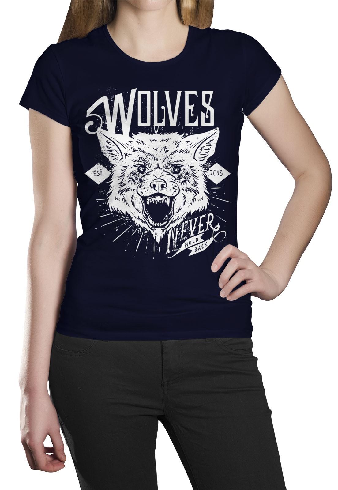 Camiseta HShop Wolves Azul  - HShop