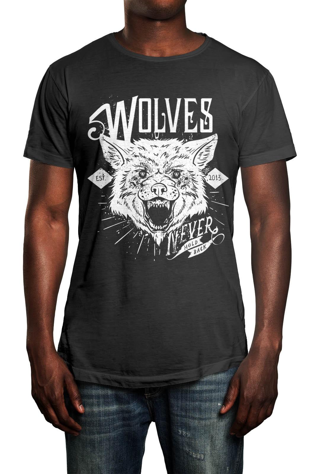 Camiseta HShop Wolves Cinza  - HShop