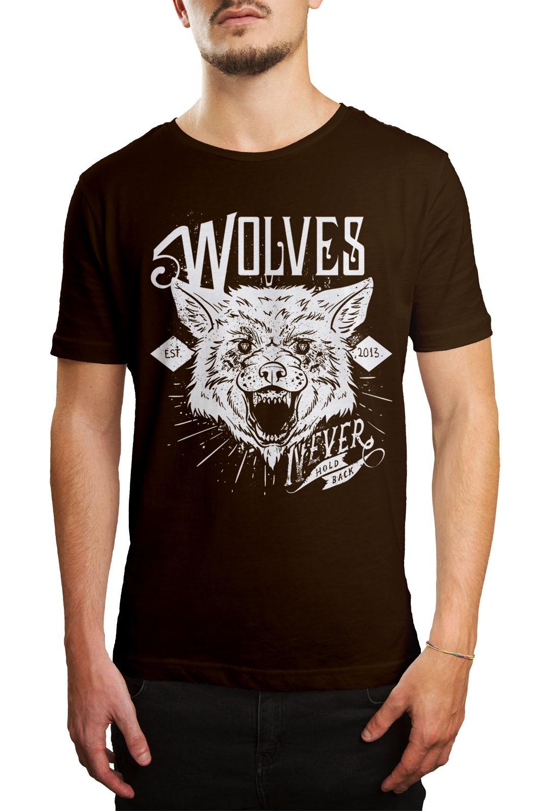 Camiseta HShop Wolves Marrom  - HShop