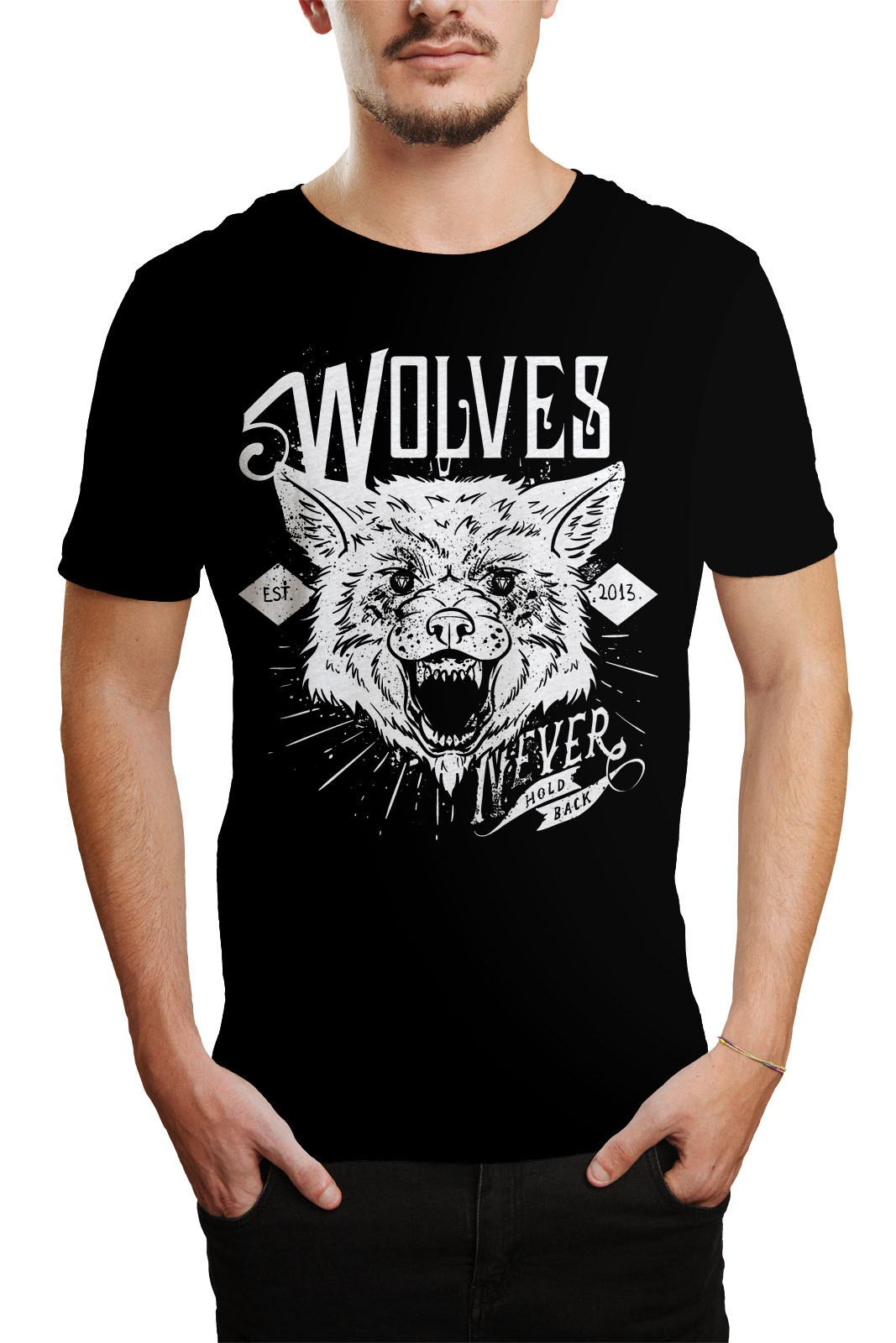 Camiseta HShop Wolves Preto  - HShop