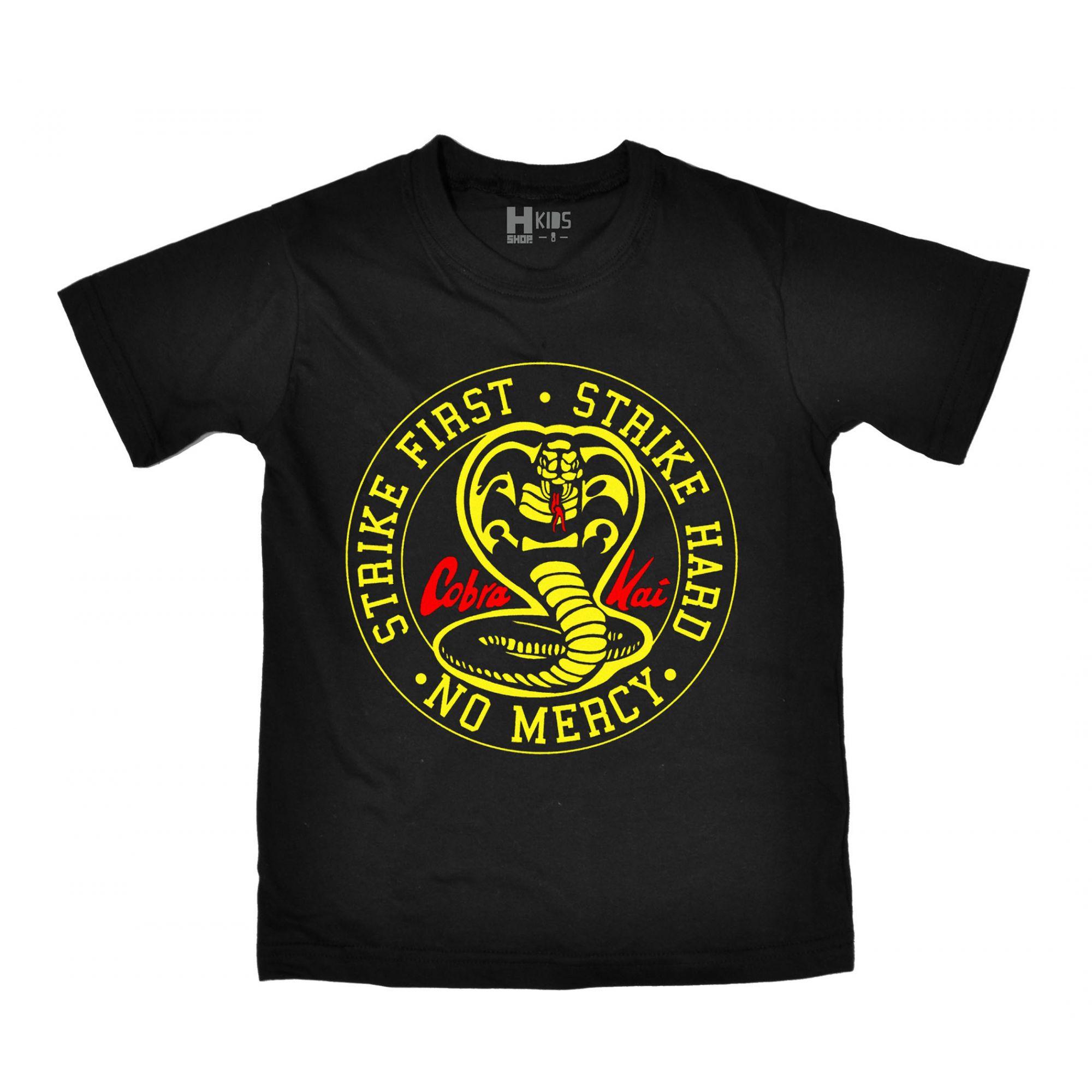 Camiseta Infantil Cobra Kai - Tamanho 6  - HShop