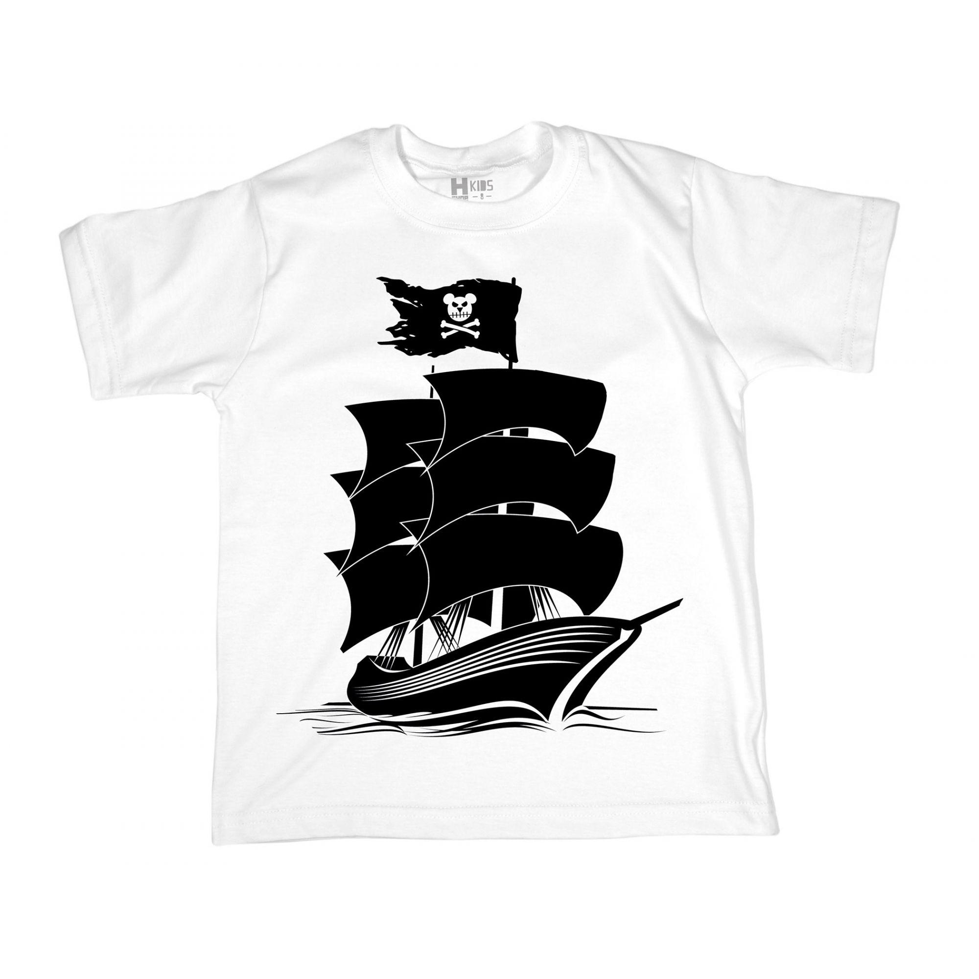 Camiseta Infantil HShop Comando Urso Branca  - HShop