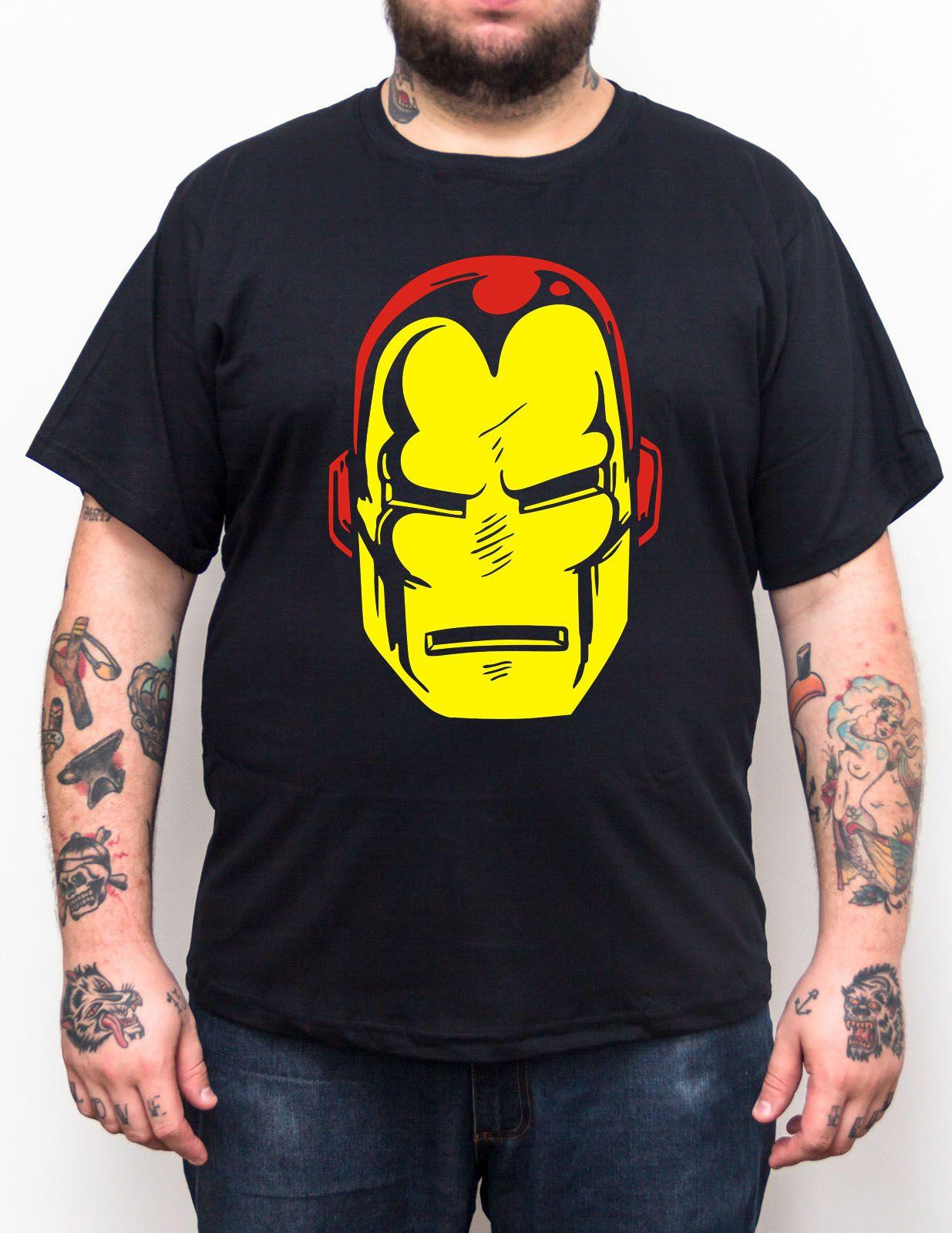 Camiseta Iron Man Vintage - Plus Size - Tamanho XG  - HShop
