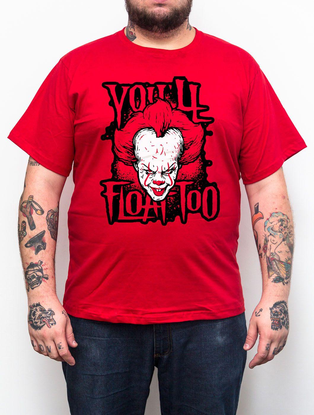 Camiseta IT A Coisa - Pennywise Vermelho Tamanho Grande Xg  - HShop