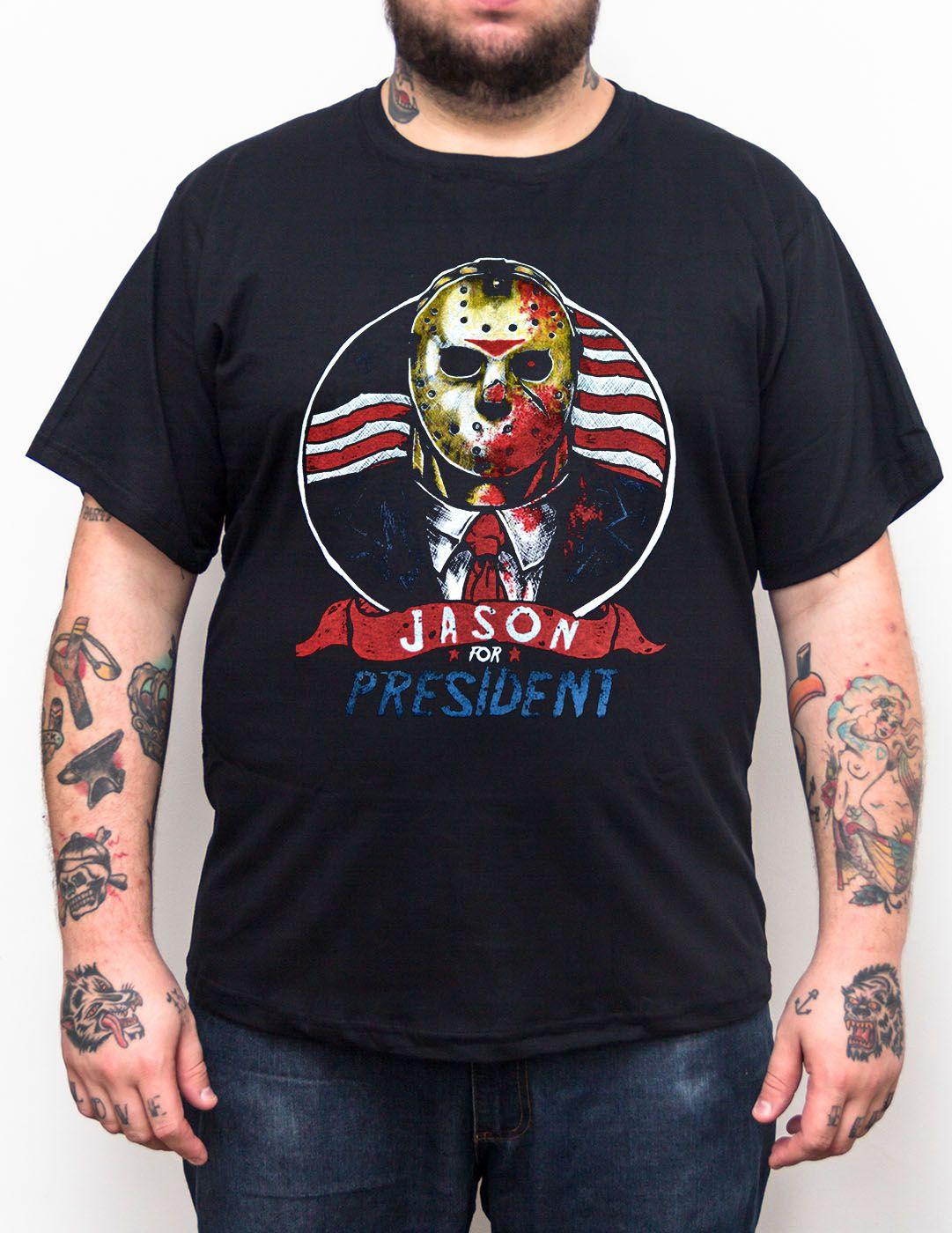 Camiseta Jason for President - Tamanho Grande Xg  - HShop