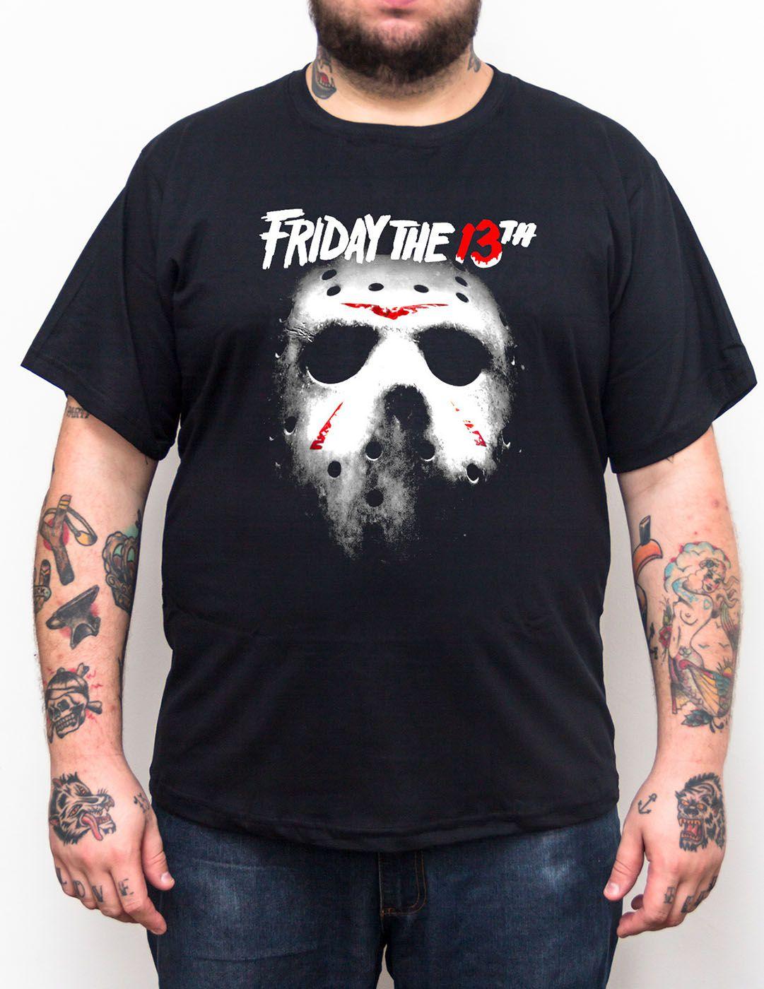 Camiseta Jason Sexta Feira 13 - Tamanho Grande Xg  - HShop