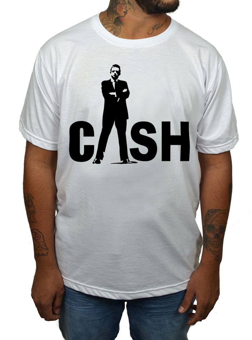 Camiseta Johnny Cash - Escolha a Cor  - HShop