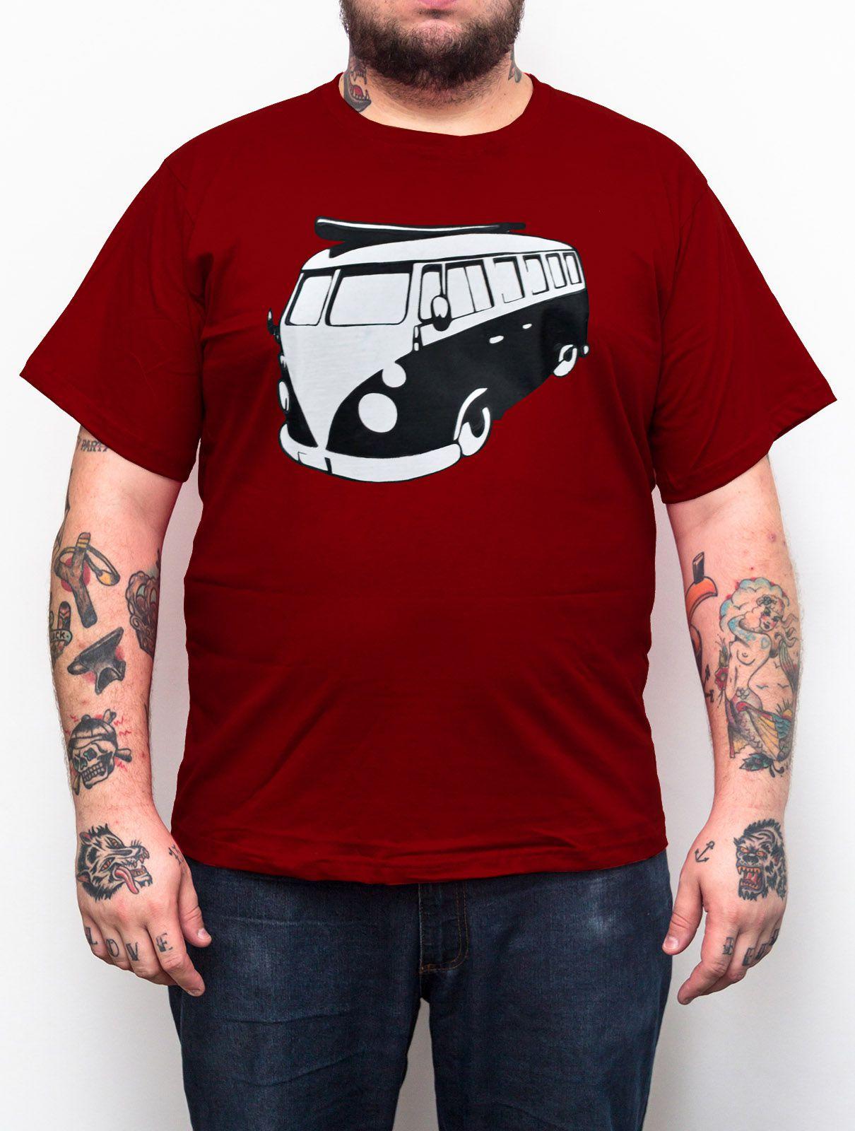 Camiseta Kombi Vinho - Plus Size - Tamanho XG  - HShop