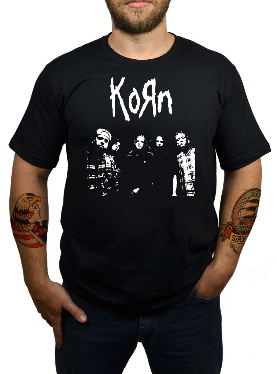 Camiseta Korn - Preta  - HShop