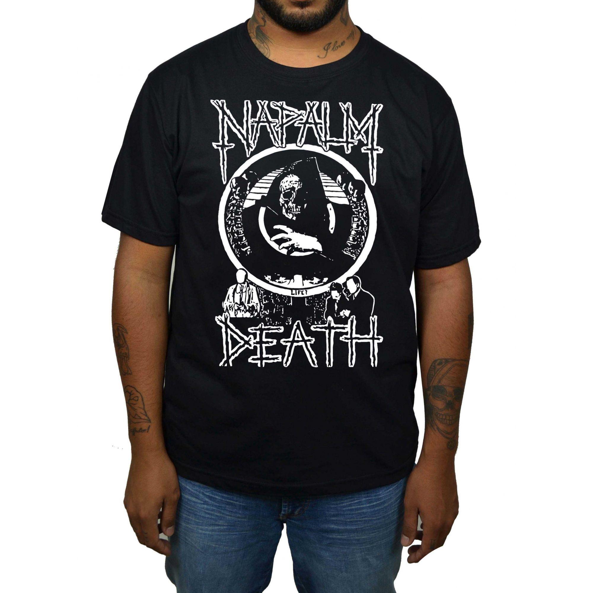 Camiseta Napalm Death - Preta  - HShop