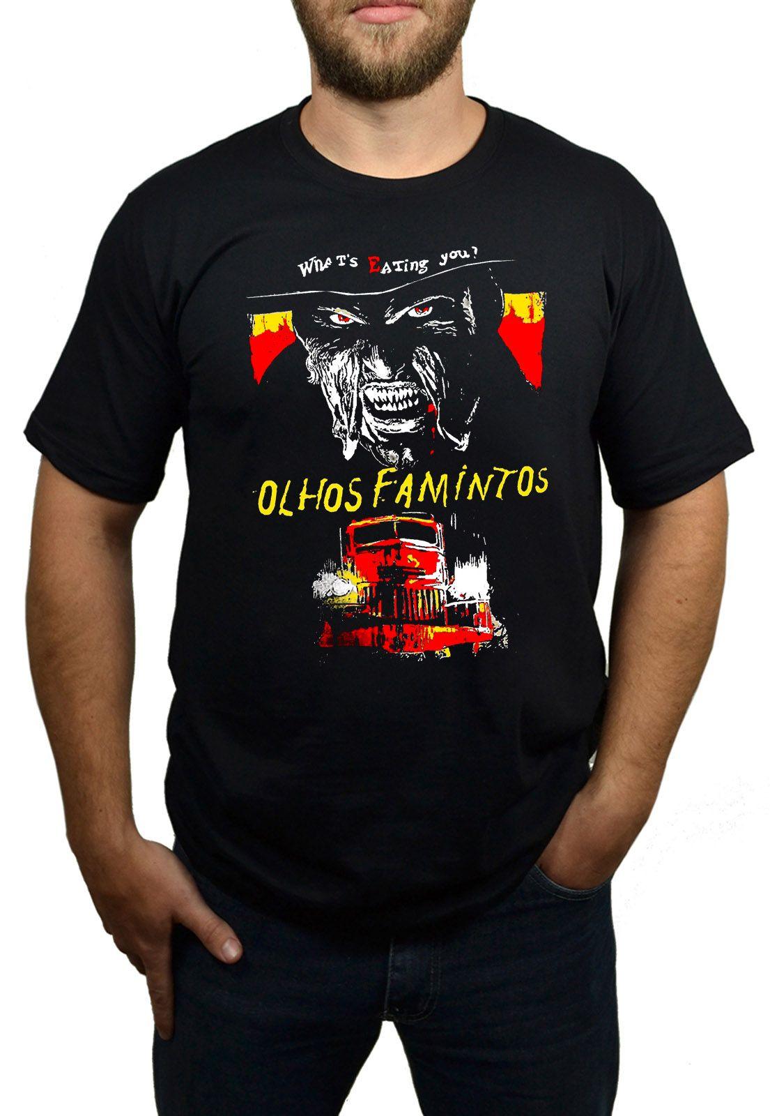 Camiseta Olhos Famintos Preto  - HShop