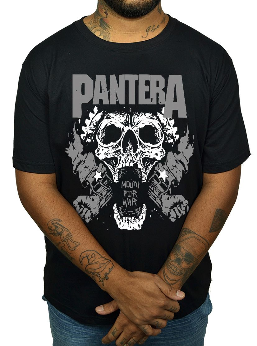 Camiseta Pantera - Mouth of War  - HShop
