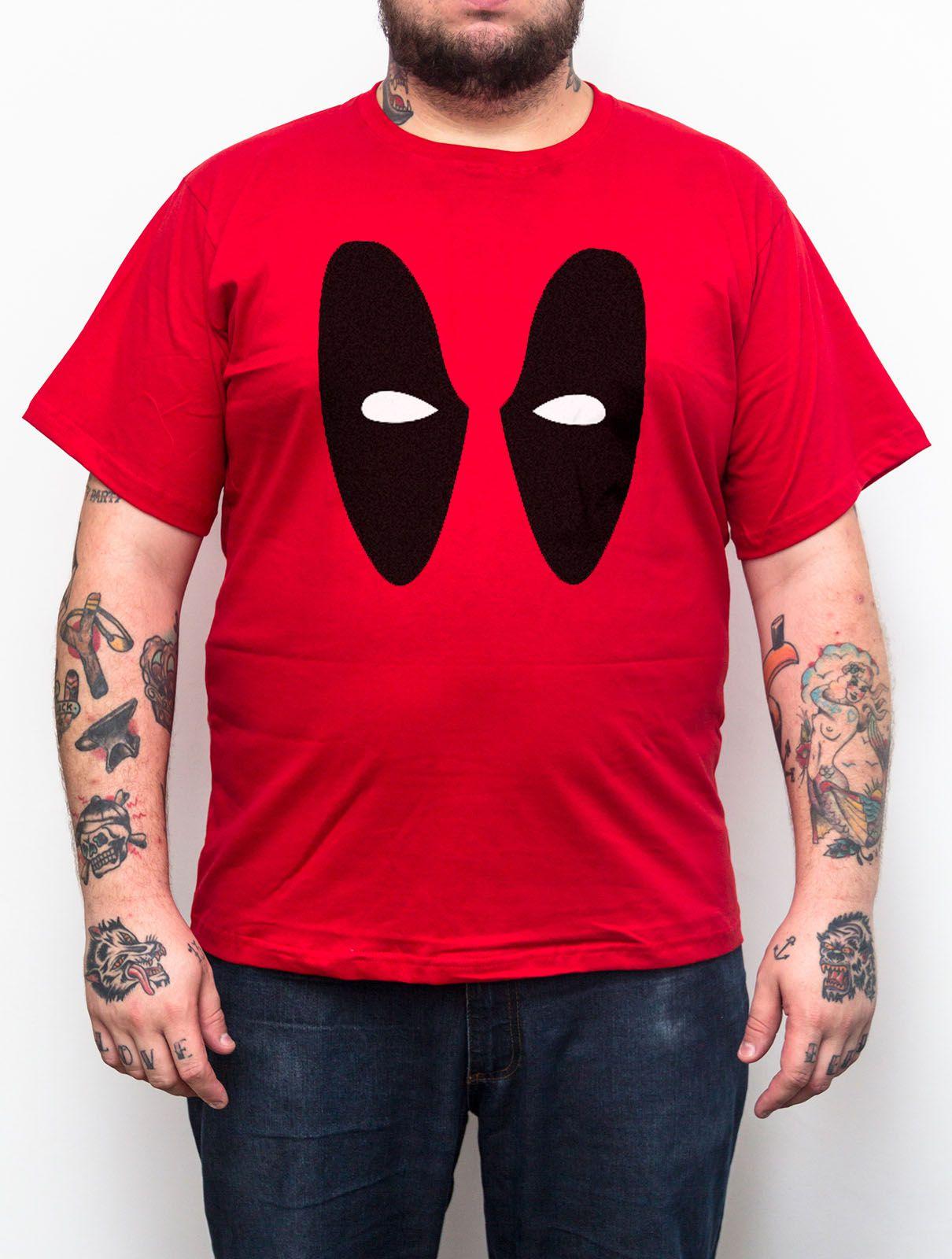 Camiseta Plus Size Deadpool Vermelho - Tamanho XG  - HShop