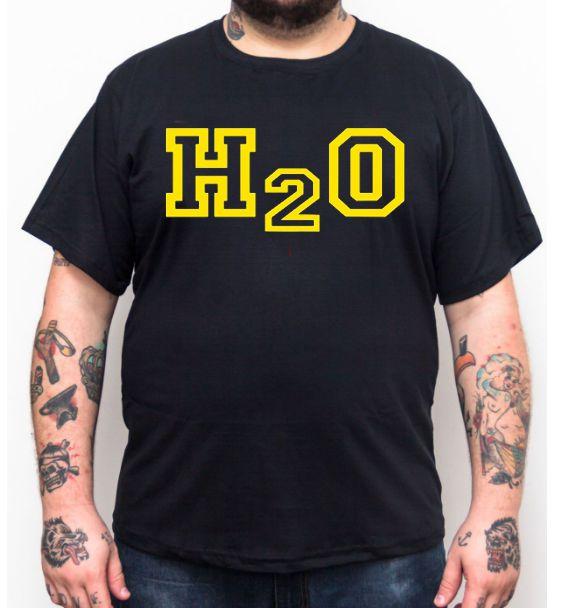 Camiseta Plus Size H2O - Preto  - HShop