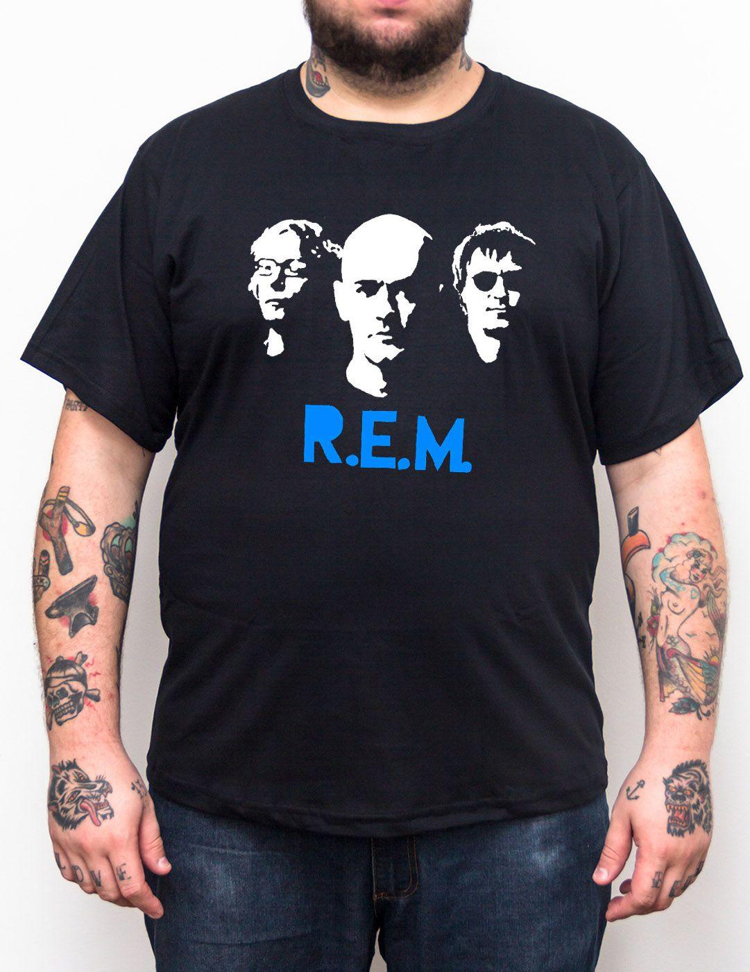 Camiseta R.E.M. - Plus Size - Tamanho Grande  - HShop