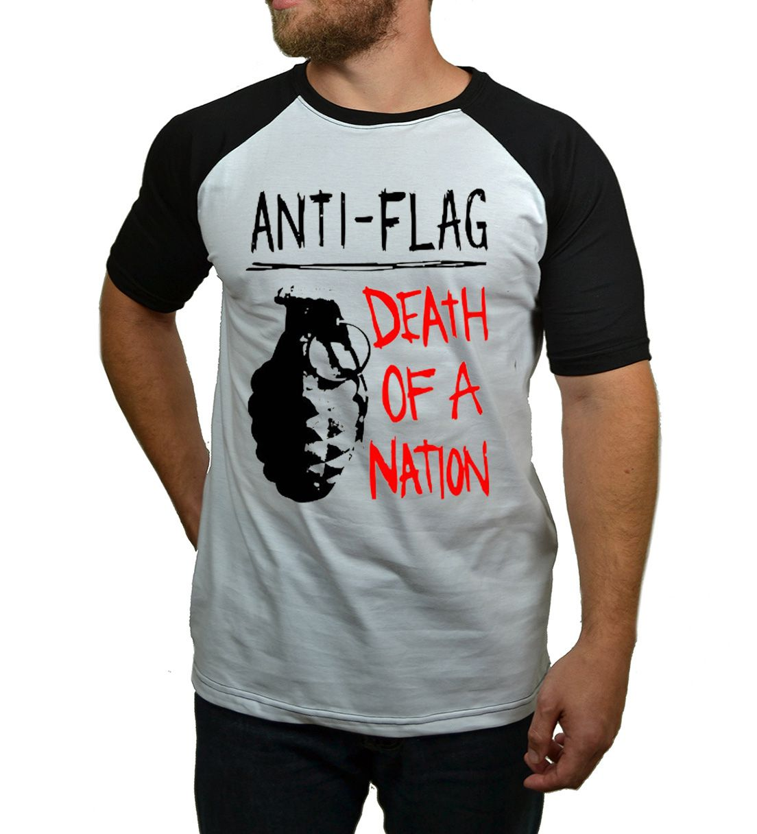 Camiseta Raglan Anti Flag  - HShop