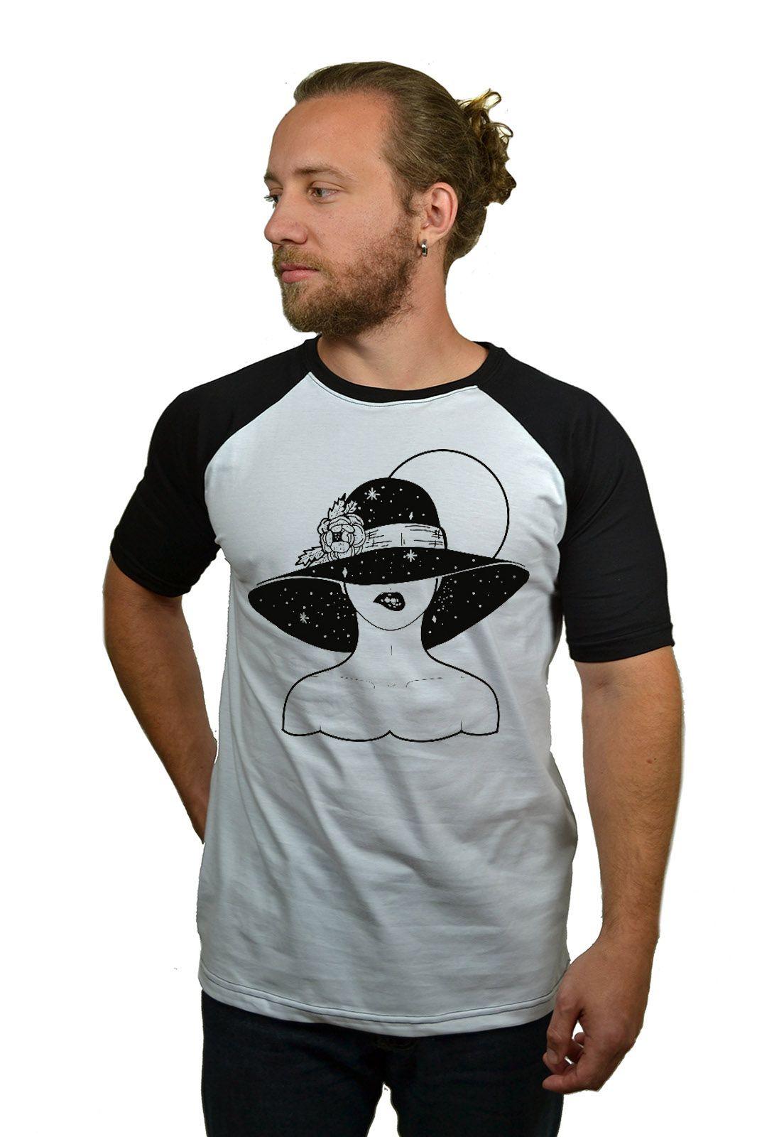 Camiseta Raglan Hshop Bite Me - Branco com Preto  - HShop
