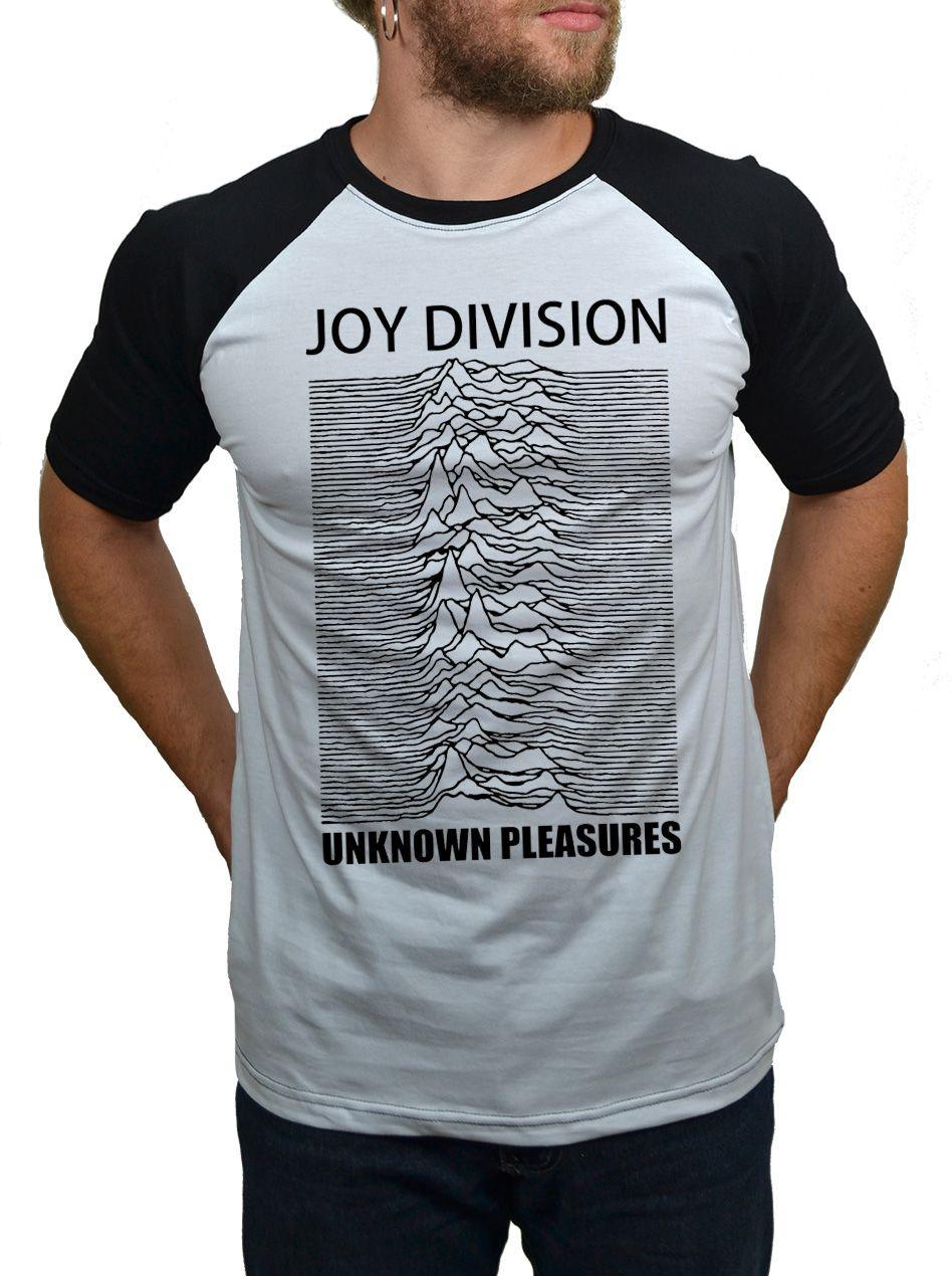 Camiseta Joy Division Unknown Pleasures - Raglan  - HShop