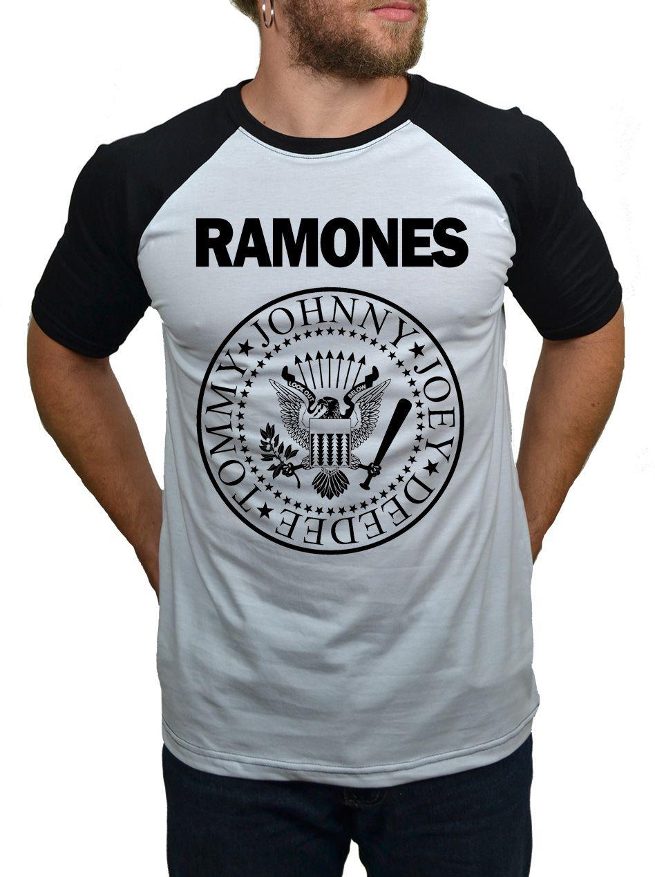 Camiseta Raglan Ramones Logo  - HShop