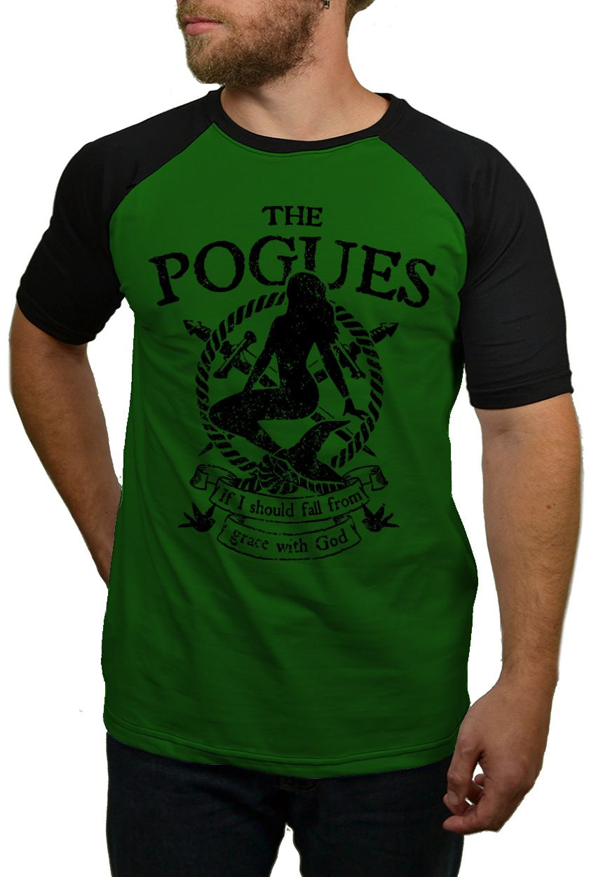 Camiseta The Pogues Sereia - Raglan  - HShop