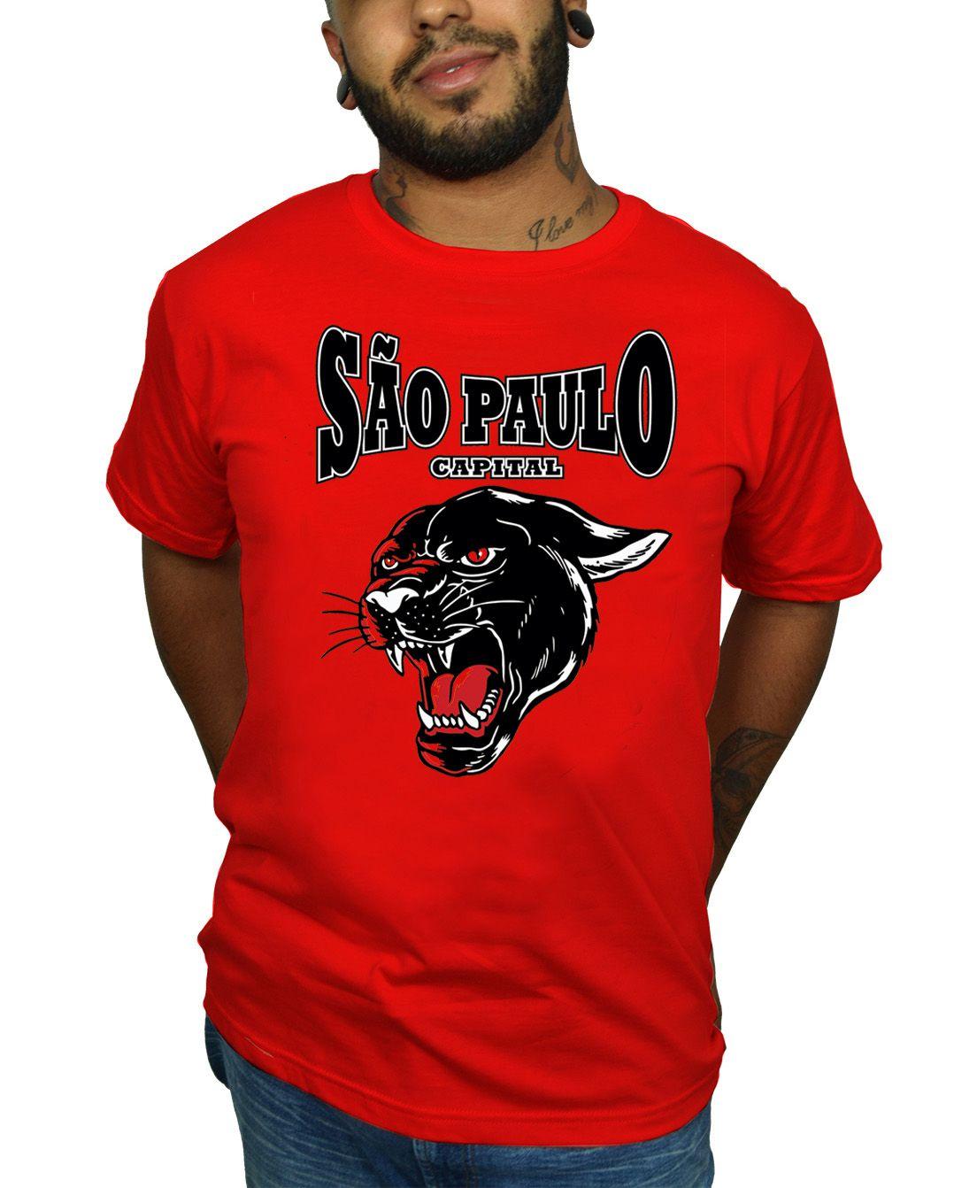 Camiseta São Paulo - Pantera - Escolha a Cor  - HShop
