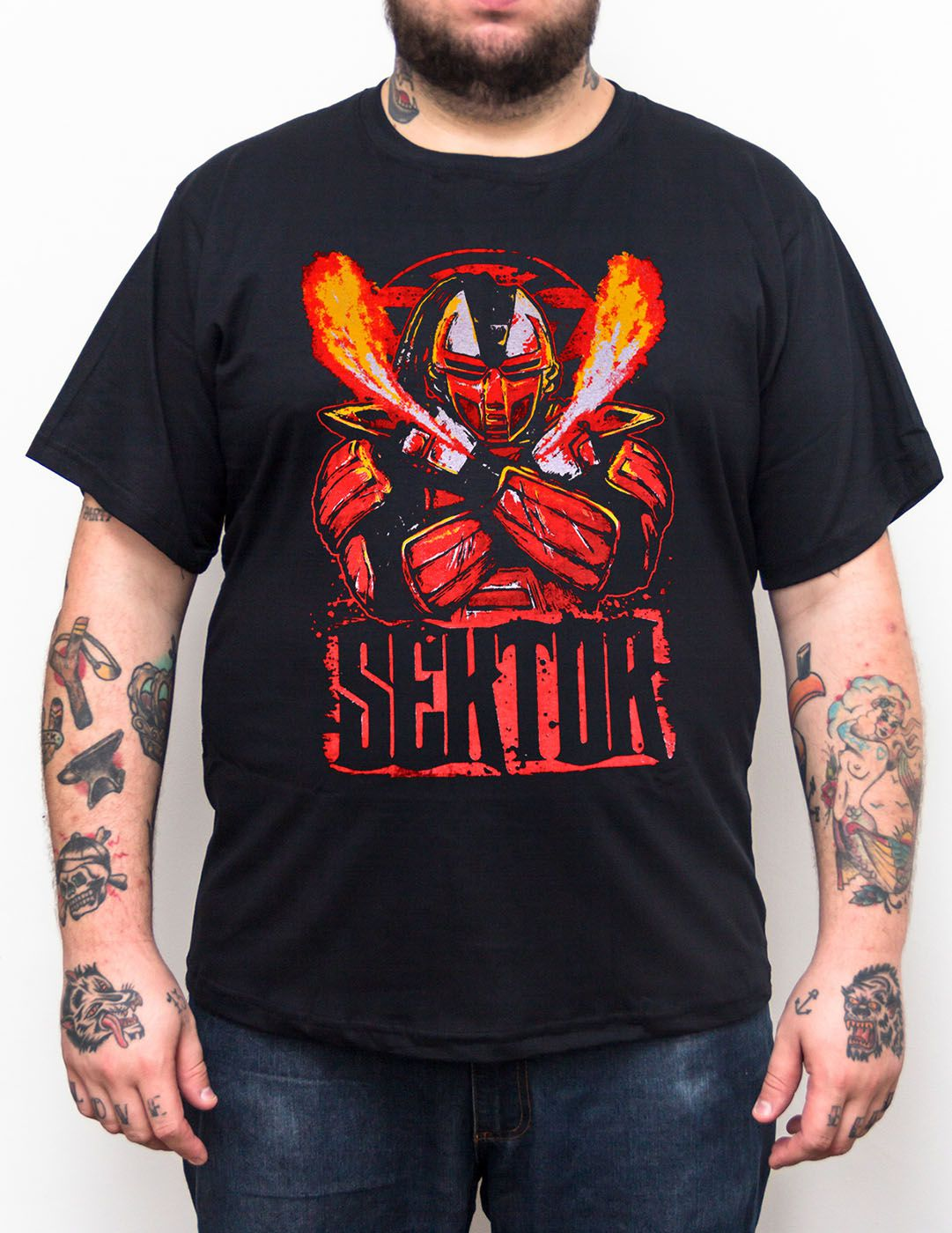 Camiseta Sektor Mortal Kombat - Plus Size - Tamanho XG  - HShop