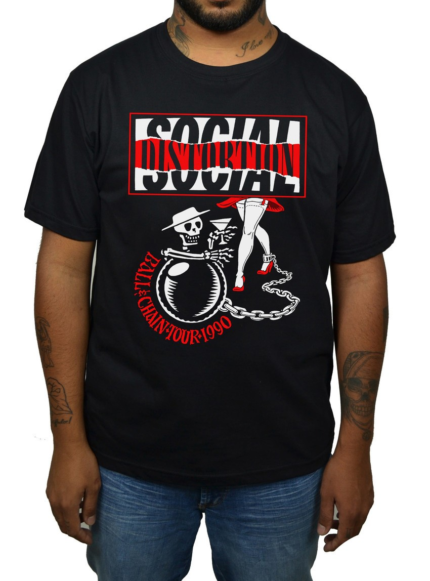 Camiseta Social Distortion - Ball and Chain Tour  - HShop