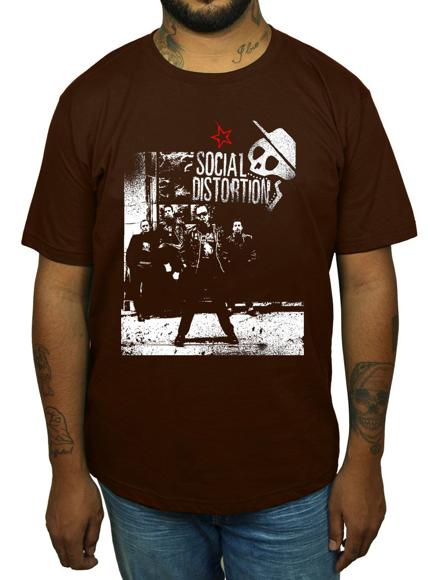 Camiseta Social Distortion - Escolha a Cor  - HShop