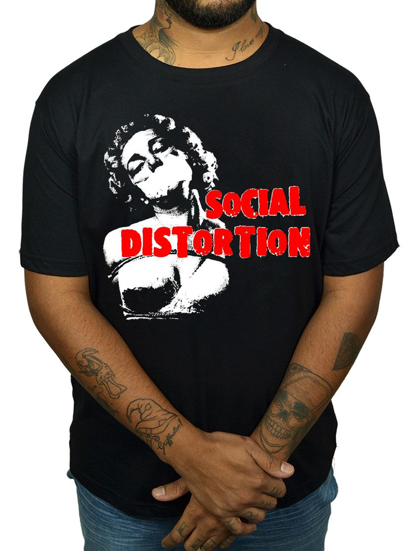 Camiseta Social Distortion - Pin Up  - HShop
