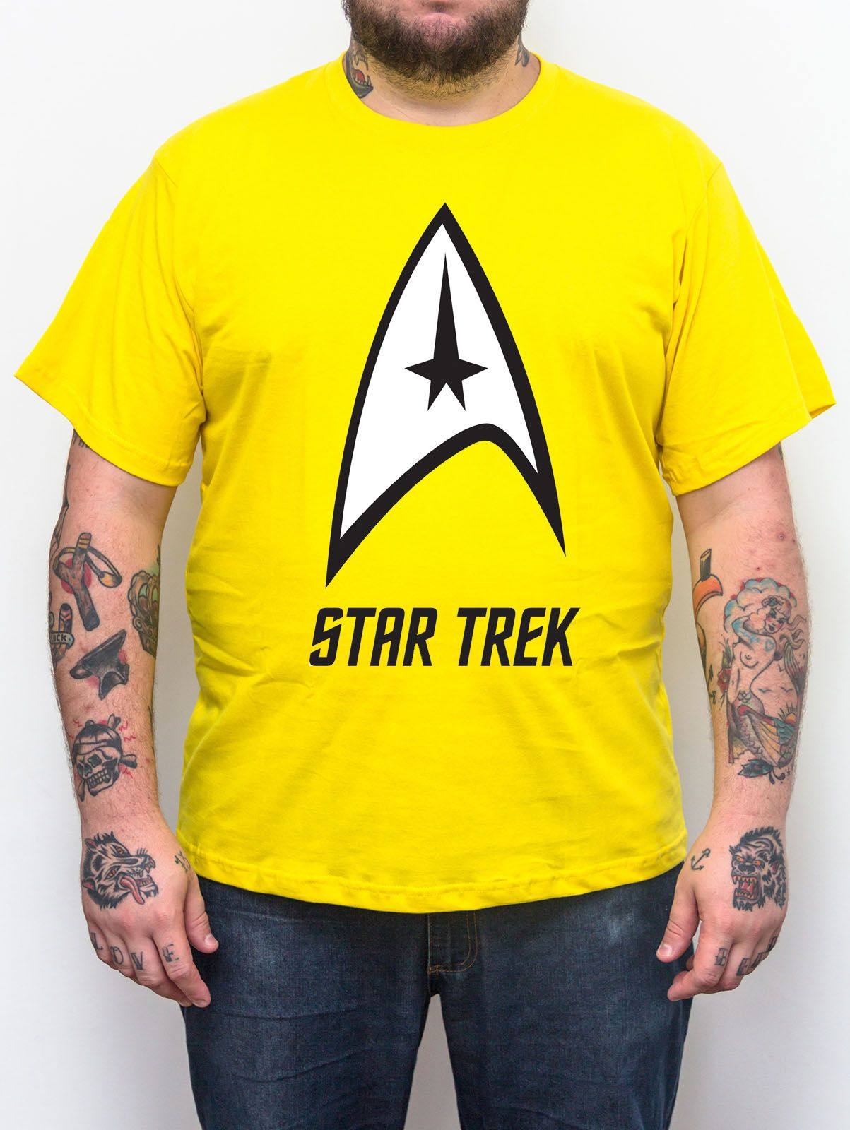 Camiseta Star Trek Amarela - Plus Size - Tamanho XG  - HShop