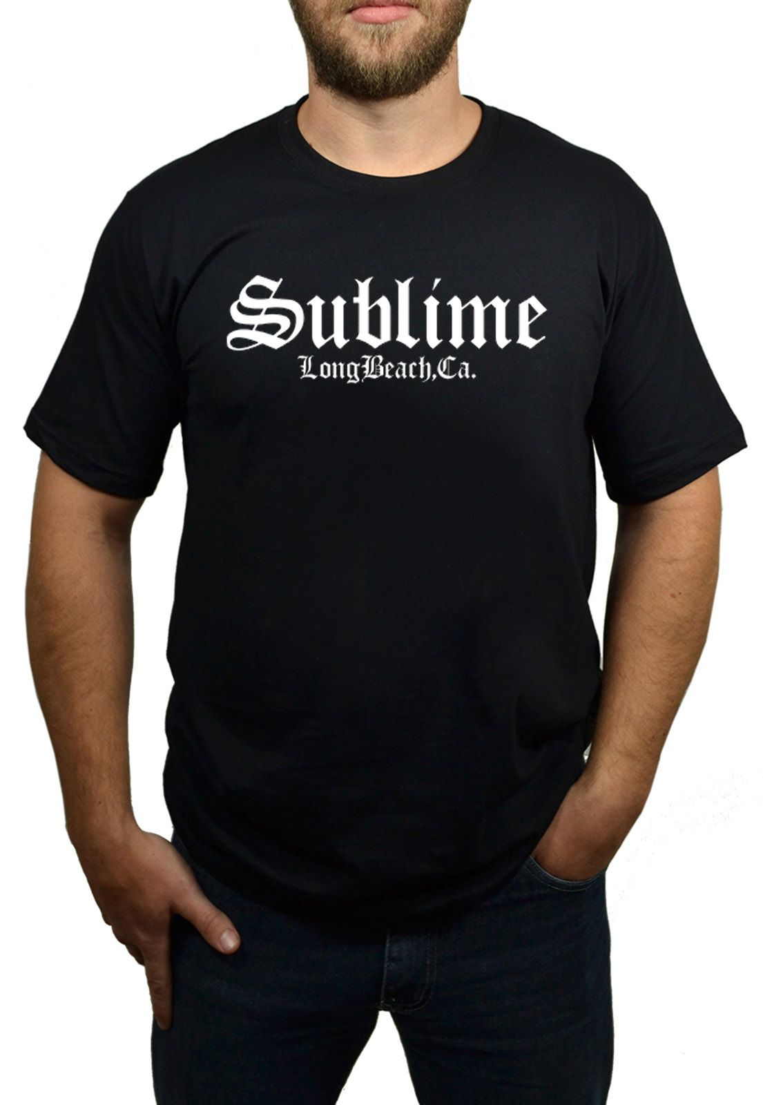 Camiseta Sublime Long Beach Preto - HShop