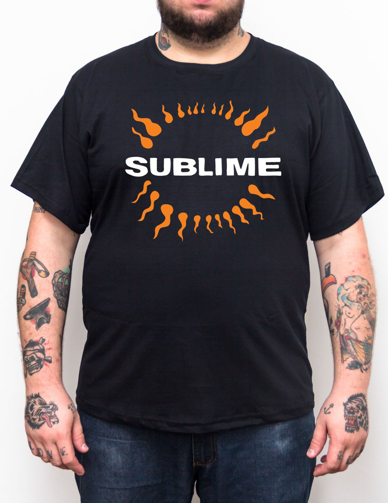 Camiseta Sublime - Preto - Plus Size - Tamanho Grande Xg  - HShop