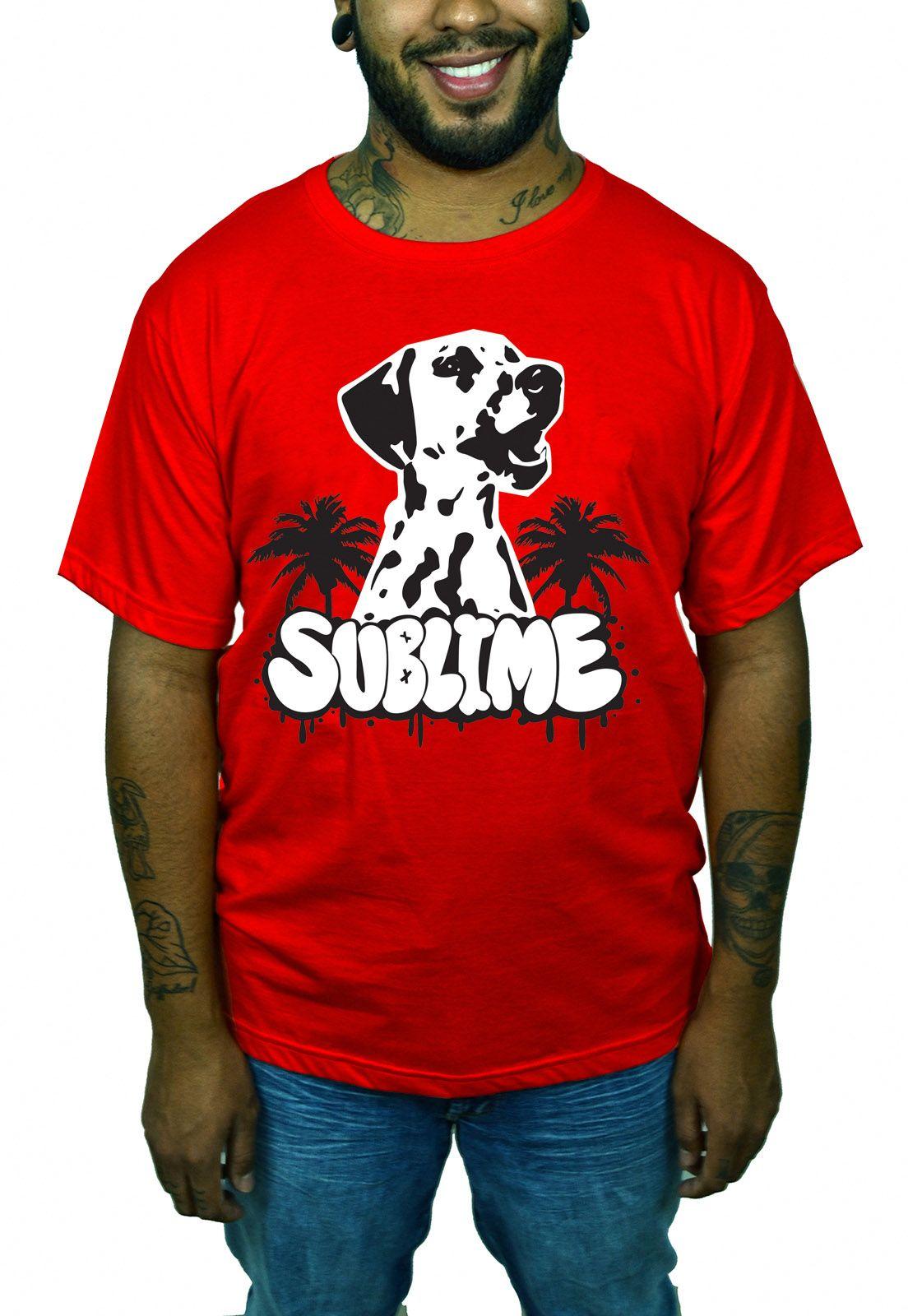Camiseta Sublime Vermelho  - HShop