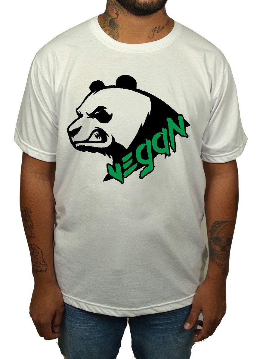 Camiseta Vegan Panda - Branco  - HShop
