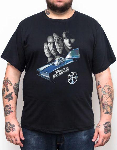 Camiseta Velozes e Furiosos - Plus Size - Tamanho XG  - HShop
