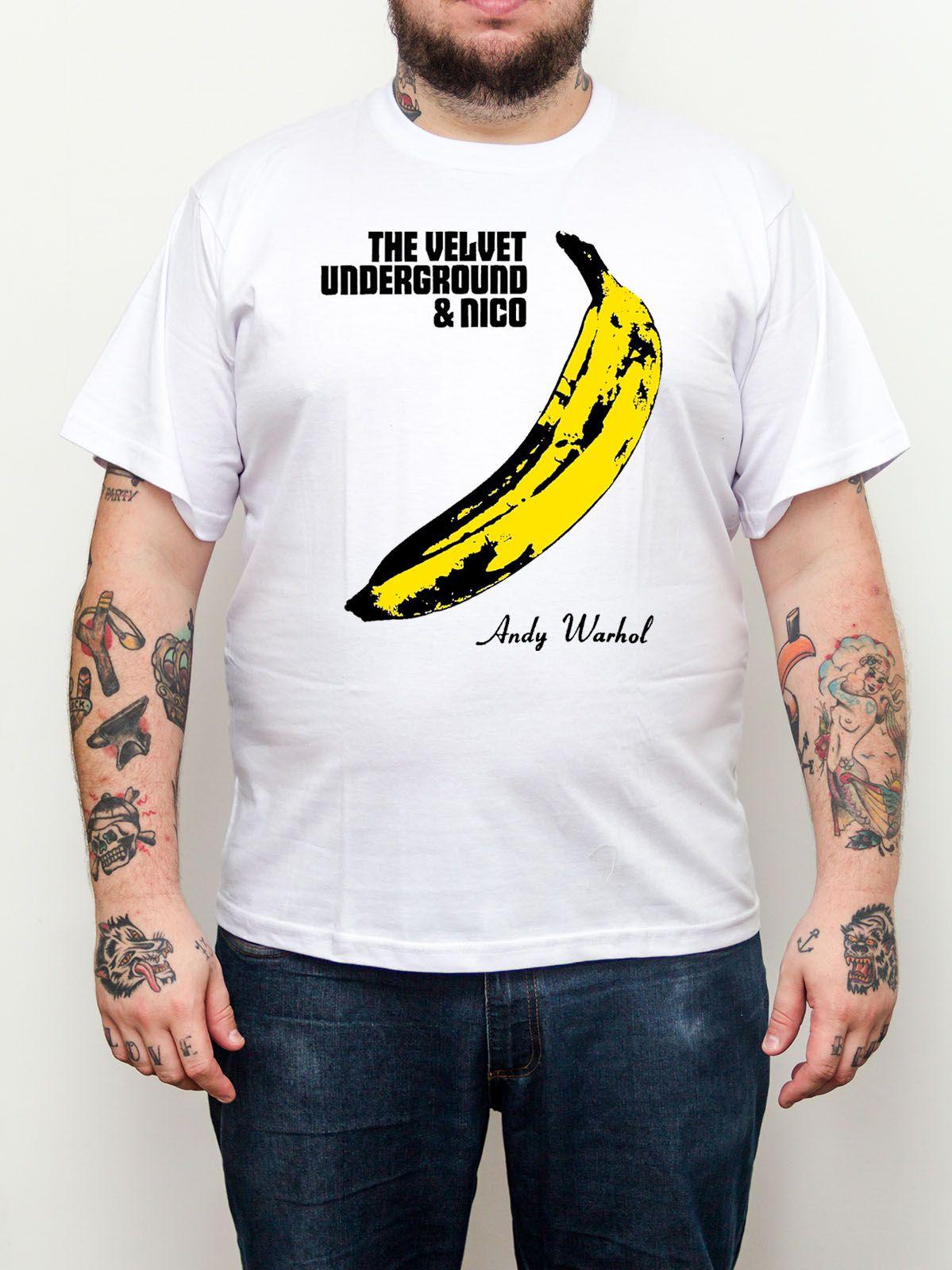 Camiseta Velvet Underground Plus Size - Tamanho Grande  - HShop